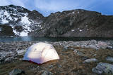 4 Person Tent Glows with a Lantern at the Base of an Alpine Route in Alice, Colorado Photographic Print by Dan Holz