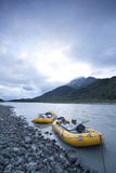 White Water Raft Trip Down the Tashenshini River, Alaska Photographic Print by Justin Bailie
