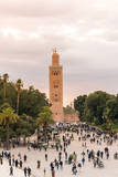 Minaret, Koutoubia Mosque, Place Jemaa El Fna, Marrakech, Morocco Photographic Print by Nico Tondini