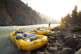 Whitewater Rafting on the Chilko River. British Columbia, Canada Photographic Print by Justin Bailie