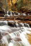 Archangel Falls Lies Near the Subway in Zion National Park, Utah Photographic Print by Clint Losee