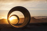 Sun Tunnels at Summer Solstice Photographic Print by Lindsay Daniels