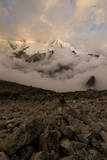 Huandoy Oeste in the Evening Light, Upper Paron Valley, Cordillera Blanca, Peru Photographic Print by Erik Johnson