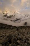 Huandoy Oeste in the Evening Light, Upper Paron Valley, Cordillera Blanca, Peru Photographic Print by Erik Johnson