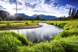 Small Section of the Upper Colorado River in Rocky Mountain National Park Photographic Print by Matt Jones