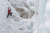Ice Climbers Scaling Vertical Ice in Ouray Ice Park Near Ouray, Colorado Photographic Print by Sergio Ballivian