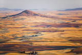 Aerial Photo of the Palouse with Steptoe Butte, Washington Photographic Print by Ben Herndon