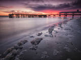 Sunset at the Pier on St. Simon Island, Georgia Photographic Print by Frances Gallogly