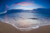 Sunset from Kaanapali Beach, Maui, Hawaii, USA Photographic Print by Roddy Scheer