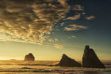 Sunset Clouds and Sea Stacks on the Oregon Coast Photographic Print by Arnab Banerjee