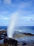 USA, Hawaii, Kauai. a Blowhole Spouts Seawater Photographic Print by  Jaynes Gallery