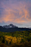 The Moon and Clouds at Sunset over Mt. Sneffels Near Ridgway, Colorado Photographic Print by Jason J. Hatfield