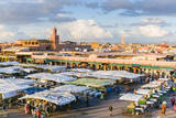 Place Jemaa El Fna (Djemaa El Fna), Marrakech, Morocco Photographic Print by Nico Tondini