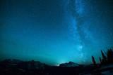 Winter Night Sky over Glacier National Park, Montana Photographic Print by Steven Gnam
