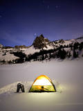 Sundial Peak under the Stars. Big Cottonwood Canyon, Utah Photographic Print by Lindsay Daniels