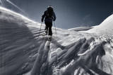 A Male Skier Skins Up for Another Run in the Backcountry Near Mount Baker, Washington Photographic Print by Jay Goodrich