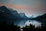 Glacier, Montana: Wild Goose Island Reflecting in St Mary Lake During Sunrise Photographic Print by Brad Beck