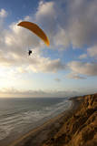 A Male Paraglider at the Torrey Pines Gliderport in San Diego, California Photographic Print by Brett Holman