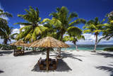 Picnic Huts on the Beaches of Alphonse Island, Seychelles Photographic Print by Matt Jones