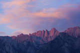 Mount Whitney Glows with Soft Light in an Early Morning in Lone Pine, California Photographic Print by Brett Holman