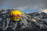 Grand Tetons, Wy: Enjoy an Early Morning Hot Air Balloon Ride the Jackson Hole Wyoming Photographic Print by Brad Beck