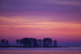 The Scenic Peninsula Against a the Pink and Purple Sky in Chesapeake Bay, Tilghman Island, Maryland Photographic Print by Karine Aigner