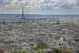 Paris Skyline, View from Sacre Coeur Basilica Dome, Paris, France Photographic Print by Victor Korchenko
