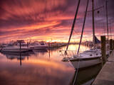Sunset at Stuart Marina, Florida Photographic Print by Frances Gallogly