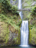 Water Cascades Down Multnomah Falls, Oregon Photographic Print by Ben Coffman