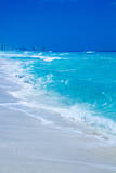 Beautiful Blue Ocean with Cancun Hotels in the Background Photographic Print by Matt Dames