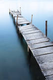 A Long Exposure Shot of a Rickety Old Dock Photographic Print by Patrick Brandenburg