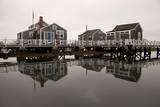 Over the Water Cottages Reflect Off the Calm Waters in the Nantucket Boat Basin Photographic Print by Greg Boreham