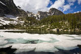 Amphitheater Lake Thaws in the Teton Mountains in Grand Teton National Park, Wyoming Photographic Print by Mike Cavaroc
