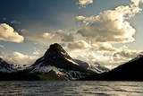 Glacier, Montana: the Sun Setting over Sinopah Mountain at Two Medicine Lake Photographic Print by Brad Beck