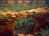 USA, Arizona, Sedona. Natural Sandstone Bridge Photographic Print by  Jaynes Gallery