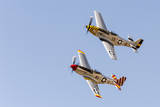 USA, Arizona, Glendale, Luke Air Force Base. Two P-51 Mustangs Flying Photographic Print by  Jaynes Gallery