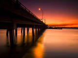 A Drawbridge at Sunset on North Hutchinson Island, Florida Photographic Print by Frances Gallogly
