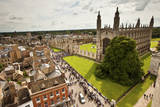 Aerial View of King's College of the University of Cambridge in England Photographic Print by Carlo Acenas