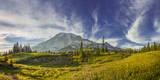USA, Washington. Trail at Mazama Ridge Above Paradise, Mt. Rainier Photographic Print by Gary Luhm