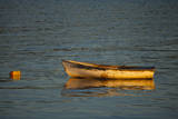 USA, Maine, Small Row Boat Anchored at Bar Harbor Photographic Print by Joanne Wells