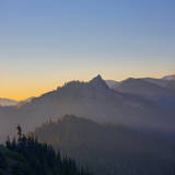 Mountains to East of Hurricane Ridge, Olympic, Washington, USA Photographic Print by Gary Luhm