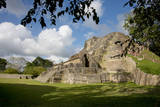 Belize, Altun Ha. Mayan Archeological Site and Ruins Fotografisk tryk af Cindy Miller Hopkins