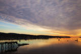 USA, Maine, Morning Clouds at Southeast Harbor Photographic Print by Joanne Wells