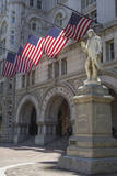 USA, Washington Dc. Ben Franklin Statue Fronts Old Post Office Photographic Print by Charles Crust