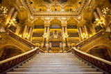 Ornate Entrance to the Opera House Palais Garnier in Paris, France Photographic Print by Brian Jannsen
