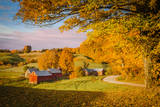Autumn Dawn at the Jenne Farm Near South Woodstock, Vermont, USA Photographic Print by Brian Jannsen
