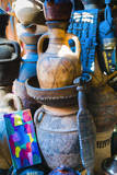 Pottery for Sale in the Souk, Medina, Marrakech, Morocco Photographic Print by Nico Tondini