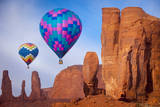 Hot Air Balloons Drifting, Navajo Tribal Park, Arizona, USA Photographic Print by Brian Jannsen