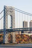 USA, New Jersey, Hudson River Basin, View of George Washington Bridge Photographic Print by Alison Jones