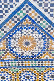 Tile Decoration at Bahia Palace, Marrakech, Morocco Photographic Print by Nico Tondini